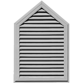 "Builders Edge 34"" x 50"" Paintable Vinyl Steeple Gable Vent"