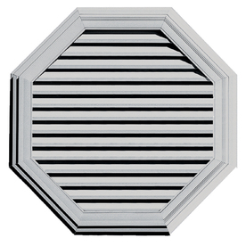 Builders Edge 40&#034; Paintable Vinyl Octagon Gable Vent