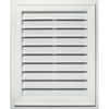 Builders Edge 20-in x 30-in White Rectangle Vinyl Gable Vent