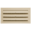 "Builders Edge 9.375"" x 18"" Almond Vinyl Foundation Vent without Ring"