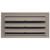 "Builders Edge 9-3/8"" x 18"" Clay Vinyl Foundation Vent with Ring"