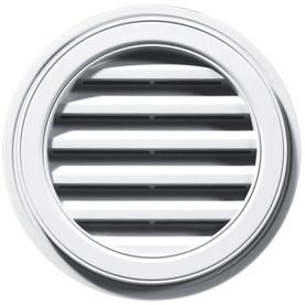 Builders Edge 18&#034; White Vinyl Round Gable Vent