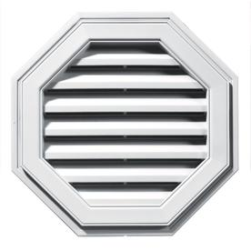 Builders Edge 22-in x 22-in White Octagon Vinyl Gable Vent