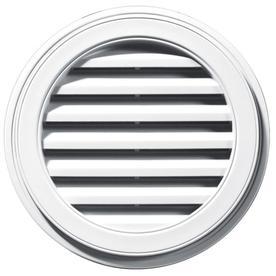 Builders Edge 22-in x 22-in White Round Vinyl Gable Vent