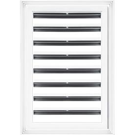 "Builders Edge 12"" x 18"" White Rectangle Gable Vent"