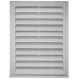 Builders Edge 20.2-in x 26.2-in Paintable Rectangle Vinyl Gable Vent