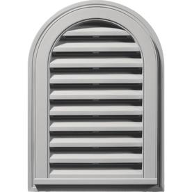 Builders Edge 16-in x 24-in Paintable Round Top Vinyl Gable Vent