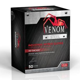 Venom Steel 25-Pair One-Size-Fits-All Nitrile Cleaning Gloves