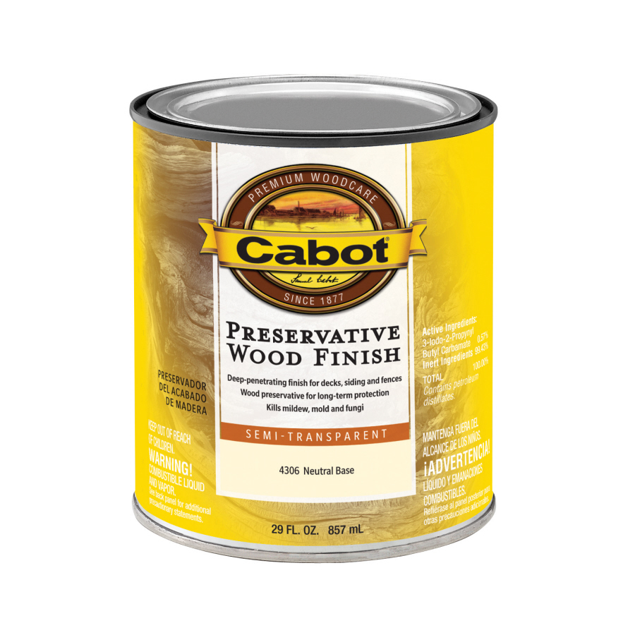 Shop Cabot 1 Quart Semi Transparent Exterior Stain At
