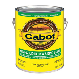 Cabot Cabot 3 in 1 Tintable Neutral Base Semi-Solid Exterior Stain (Actual Net Contents: 116-fl oz)
