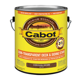 Cabot Cabot 3 in 1 Cordovan Brown Semi-Transparent Exterior Stain (Actual Net Contents: 128-fl oz)