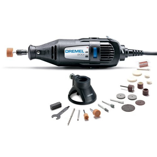Zoomed: Dremel 200 Series Rotary Tool Kit