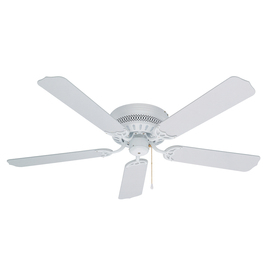Litex Hugger 52-in White Flush Mount Ceiling Fan