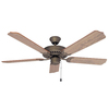 Litex 52-in Ultimate Vintage Pewter Ceiling Fan