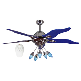Harbor Breeze 52-in Chrome Ceiling Fan with Light Kit and Remote