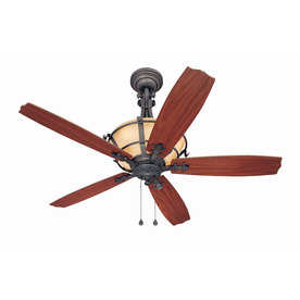 Harbor Breeze Lynnhaven 54-in Vintage Iron Downrod Mount Ceiling Fan