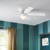 Harbor Breeze Armitage 52-in White Flush Mount Indoor Ceiling Fan with Light Kit