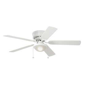52 Ceiling Fans With Lights: Display product reviews for Armitage 52-in White Flush Mount Indoor  Residential Ceiling Fan with,Lighting