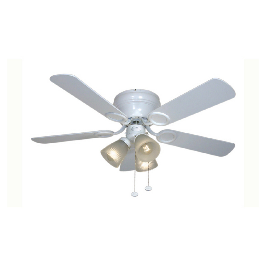Shop Harbor Breeze 42 Cheshire White Ceiling Fan At Lowes