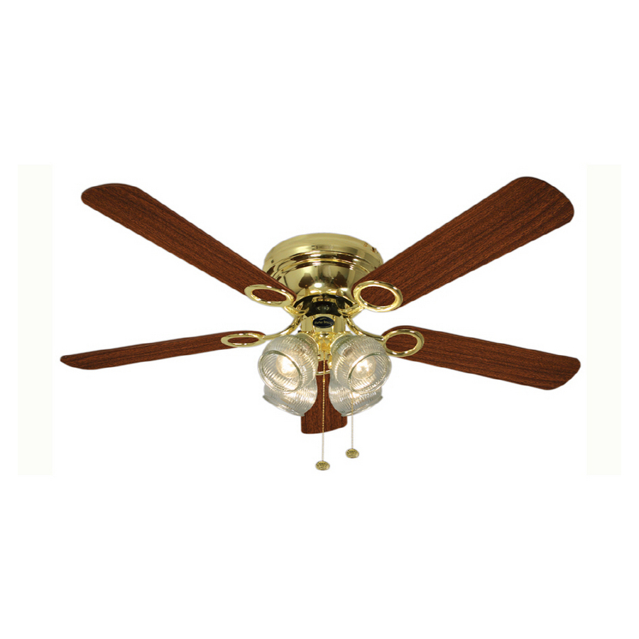 "Shop Harbor Breeze 52"" Cheshire Polished Brass Ceiling Fan at Lowes ..."
