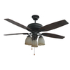 Litex 52-in Aged Bronze Ceiling Fan with Light Kit