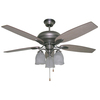 Litex 52-in Antique Nickel Ceiling Fan with Light Kit