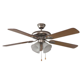 Litex 52-in Brushed Pewter Ceiling Fan with Light Kit