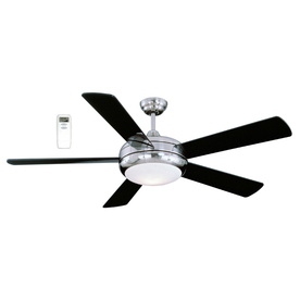 Litex 52-in Satin Chrome Ceiling Fan with Light Kit and Remote