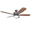 Harbor Breeze Bayou Creek 56-in Bronze Downrod or Close Mount Indoor Ceiling Fan with Light Kit and Remote