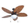 Harbor Breeze Waveport 52-in Bronze Downrod Mount Indoor/Outdoor Ceiling Fan with Light Kit