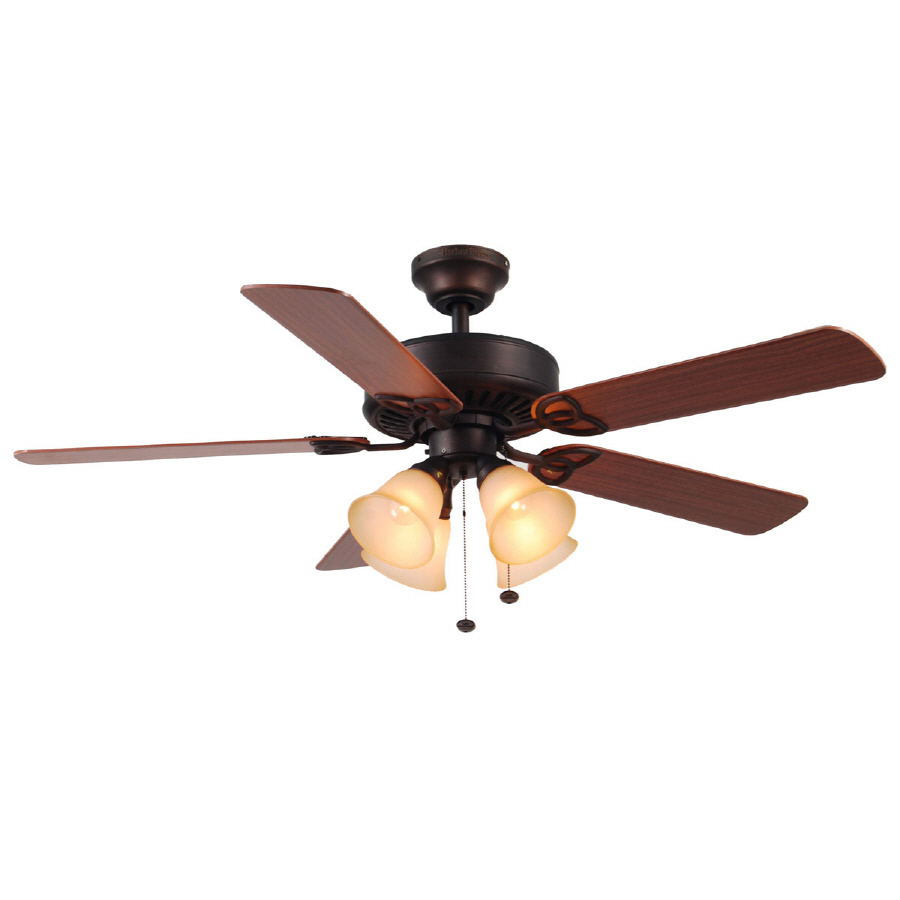 52 in multi position ceiling fan with light kit at. Black Bedroom Furniture Sets. Home Design Ideas