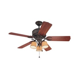 Harbor Breeze Austin 54-in Aged Iron Downrod Mount Ceiling Fan with Light Kit
