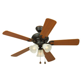 Harbor Breeze 44-in Bellevue Aged Bronze Ceiling Fan with Light Kit