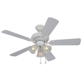 Harbor Breeze Bellevue 44-in Matte White Multi-Position Indoor Ceiling Fan with Light Kit