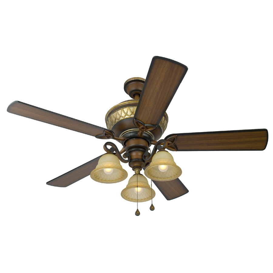 Shop Harbor Breeze Rutherford 52 In Walnut Multi Position Ceiling Fan With Light Kit At Lowes Com