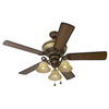 Harbor Breeze Rutherford 52-in Walnut Multi-Position Indoor Ceiling Fan with Light Kit