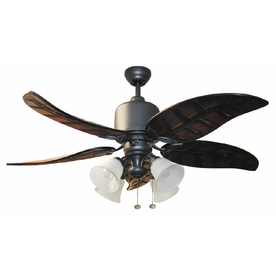Harbor Breeze 52-in Tahoe Outdoor Ceiling Fan with Light Kit