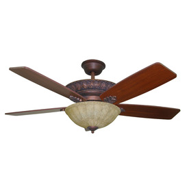 Harbor Breeze 52-in Lori Old World Bronze Ceiling Fan with Light Kit