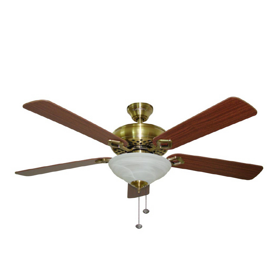 Shop Harbor Breeze 52 Shelby Antique Brass Ceiling Fan At