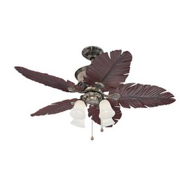 Harbor Breeze 52-in Kiawah Polished Pewter Ceiling Fan with Light Kit