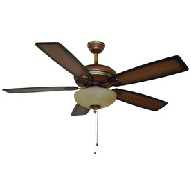 Harbor Breeze 52-in Cabrillo Walnut Ceiling Fan with Light Kit