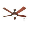 Harbor Breeze 52-in Aero Bronze Ceiling Fan with Light Kit and Remote