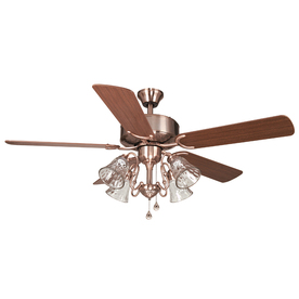 Harbor Breeze 52-in Dubois Brushed Copper Ceiling Fan with Light Kit