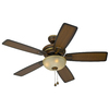 Harbor Breeze 44-in Cedar Hill Walnut Ceiling Fan with Light Kit