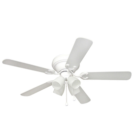 Harbor Breeze 52-in Cheshire II White Ceiling Fan with Light Kit