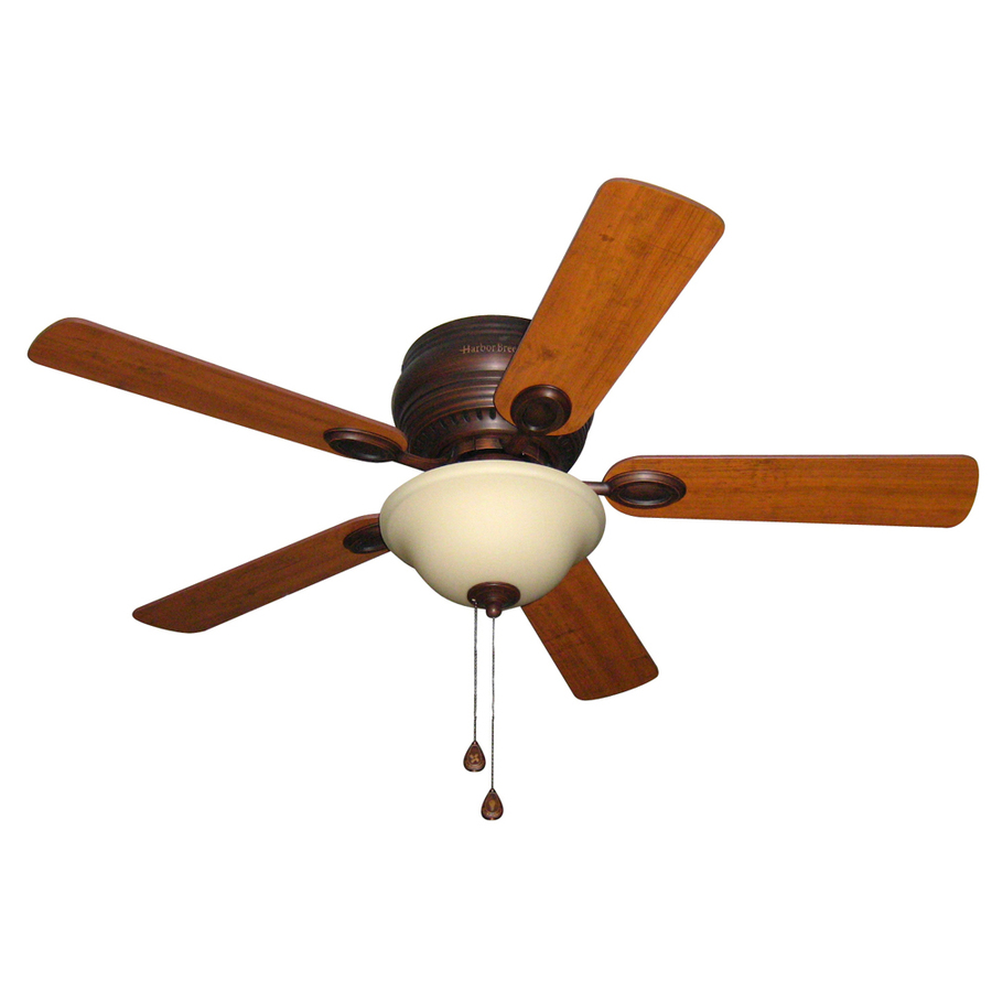 Shop Harbor Breeze Mayfield 44 In Antique Bronze Flush Mount Ceiling Fan With