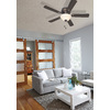 Harbor Breeze Mayfield 44-in Antique Bronze Flush Mount Indoor Ceiling Fan with Light Kit