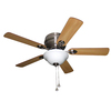Harbor Breeze Mayfield 44-in Brushed Nickel Flush Mount Indoor Ceiling Fan with Light Kit
