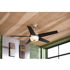 Harbor Breeze Urbania 54-in Brushed Nickel Downrod or Flush Mount Indoor Ceiling Fan with Light Kit