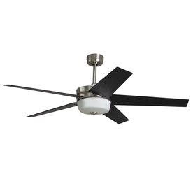 Harbor Breeze Urbania 54-in Brushed Nickel Downrod or Flush Mount Ceiling Fan with Light Kit